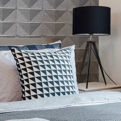 Cinderblock Chevron - Gray - Wallpaper Tiles
