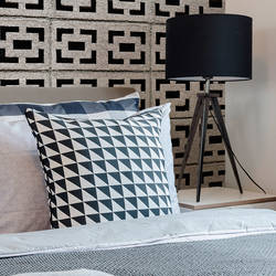 Cinderblock Stack - Gray - Wallpaper Tiles