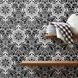 Golden Afternoon, Wood Block - Wallpaper Tiles