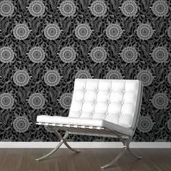 Social Butterfly, Ash - Wallpaper Tiles