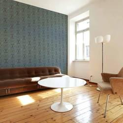 Dreamland, Teal - Wallpaper Tiles