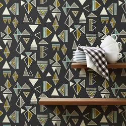 Tom Tom, Slate - Wallpaper Tiles