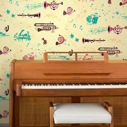 Rhapsody, Day - Jim Flora Wallpaper Tiles