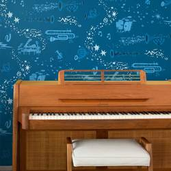 Rhapsody, In Blue - Jim Flora Wallpaper Tiles