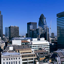 View of The City of London from The Monument, London, England