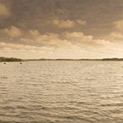 Lake at sunset, Barton Broad, Norfolk Broads, Norfolk, England