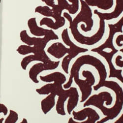Plush Flocked Wallpaper French Garden Damask White/Plum Velvet