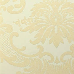 Plush flocked wallpaper heritage damask gold leaf teal velvet designyourwall - Cream flock wallpaper ...