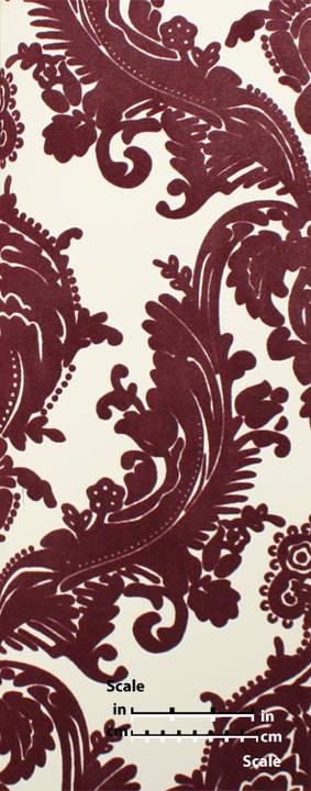 plush flocked wallpaper heirloom damask whitepurple