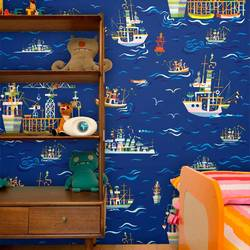 On The Sea - Jim Flora Wallpaper Tiles
