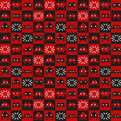 Space Invaders, Red and Black