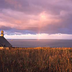 Chapel at a coast, Saint-They Chapel, Pointe Du Raz, Finistere, Brittany, France