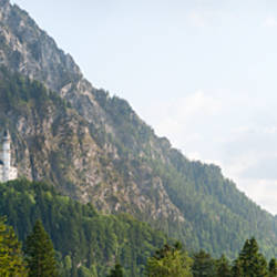 Castle on a hill, Neuschwanstein Castle, Schwangau, Bavaria, Germany