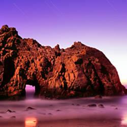 Rock formations on the beach, Pfeiffer Beach, Big Sur, California, USA