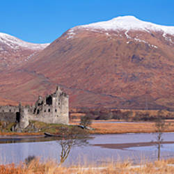 Castle on a hill, Kilchurn Castle, Loch Awe, Highlands, Scotland
