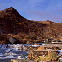 Stream flowing through rocks, Tavy Cleave, Dartmoor, Devon, England
