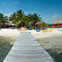 Pier in the sea, San Pedro, Ambergris Caye, Belize