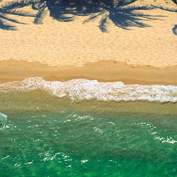Waves on the beach, Moreton Island, Queensland, Australia