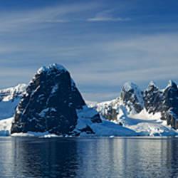 Glacier along straits, Lamaire Channel, Antarctic Peninsula, Antarctica