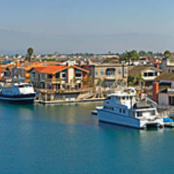 Boats at a harbor, Channel Islands, Oxnard, Ventura County, California, USA