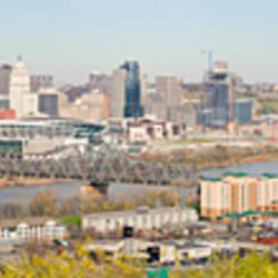 High angle view of a city, Cincinnati, Hamilton County, Ohio, USA 2010