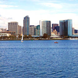 Buildings at the waterfront, view from Coronado Island, San Diego, California, USA 2010