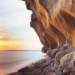 Sculpted cliffs on the coast, Burton Bradstock, Dorset, England