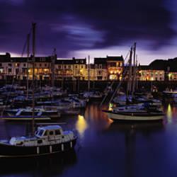 Boats at a harbor, Ilfracombe, North Devon, Devon, England