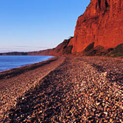 Pebbles on the beach, Budleigh Salterton, Devon, England