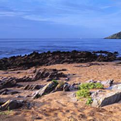 Wembury Mewstone viewed from beach, Devon, England