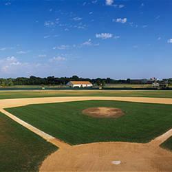 High school baseball diamond field, Lincolnshire, Lake County, Illinois, USA