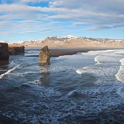 Waves on the coast, Dyrholaey, Iceland