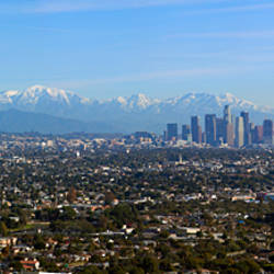 City with mountains in the background, Los Angeles, California, USA 2010