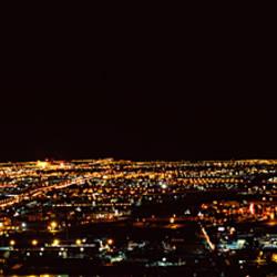 Hotel lit up at night, Palms Casino Resort, Las Vegas, Nevada, USA 2010