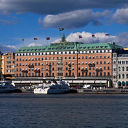 Buildings at the waterfront, Grand Hotel, Blasieholmen, Gamla Stan, Stockholm, Sweden