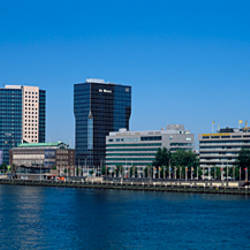 Buildings at the waterfront, Meuse River, Rotterdam, Netherlands