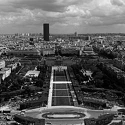 Aerial view of a city, Eiffel Tower, Paris, Ile-de-France, France
