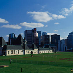 Skyscrapers in a city, McGill University, Montreal, Quebec, Canada