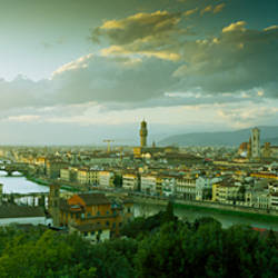 High angle view of a city from Piazzale Michelangelo, Florence, Tuscany, Italy