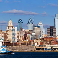 Buildings at the waterfront, Delaware River, Philadelphia, Philadelphia County, Pennsylvania, USA