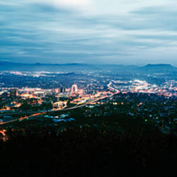 High angle view of a city, Roanoke, Virginia, USA