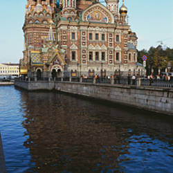 Church at the waterfront, Church of the Resurrection of Christ, Griboyedov Canal, St. Petersburg, Russia