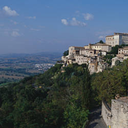 Houses on the top of a hill, Todi, Perugia, Umbria, Italy