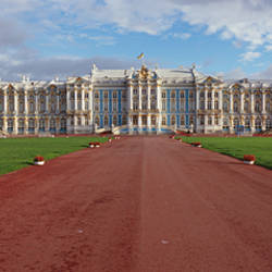Dirt road leading to a palace, Catherine Palace, Pushkin, St. Petersburg, Russia