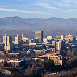 Aerial view of a city, Asheville, Buncombe County, North Carolina, USA