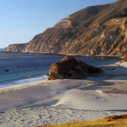 Rock formations on the beach, California State Route 1, Big Sur, California, USA
