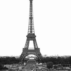 Tower in a city, Eiffel Tower, Place Du Trocadero, Paris, Ile-De-France, France