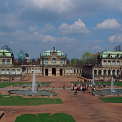 Fountains at a palace, The Zwinger, Dresden, Saxony, Germany