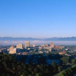 High angle view of a city, Asheville, Buncombe County, North Carolina, USA