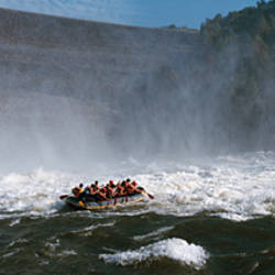 Group of people rafting in a river, Gauley River, West Virginia, USA